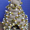 Knitted beehive