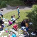 Aerial view of students involved in Aspire workshop