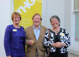 Heather Penwarden (Honiton Dementia Action Alliance), Alan Cotton (artist and patron), Sue Holland (Organiser)