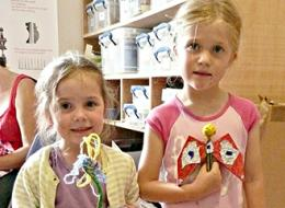 Family workshop at Thelma Hulbert Gallery Honiton